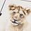Thumbnail: Lion Cub Watercolor Print