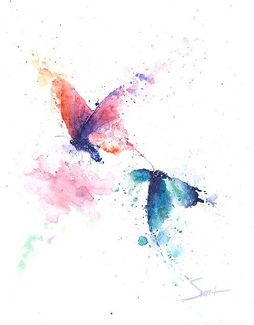 Butterflies Watercolor Print
