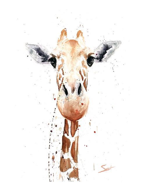 Giraffe Watercolor Print