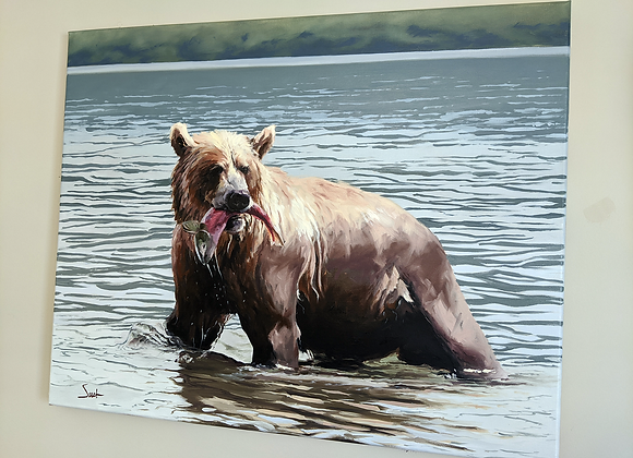 Original 'Grizzly' Oil Painting