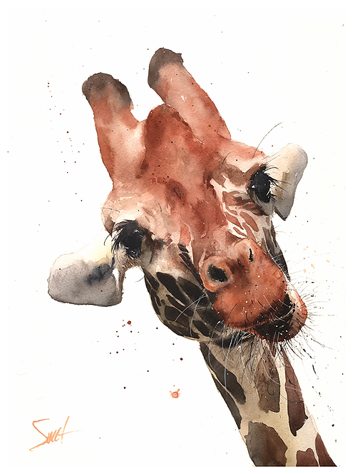 Giraffe Watercolor Print 3