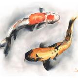 Watercolor Koi, 24x18, 2017