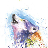 Howling Wolf Watercolor, 11x14, 2014