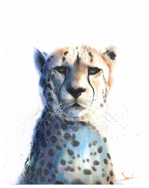 Cheetah Watercolor Print