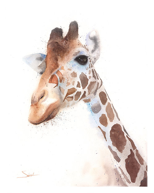 Giraffe Watercolor Print 2
