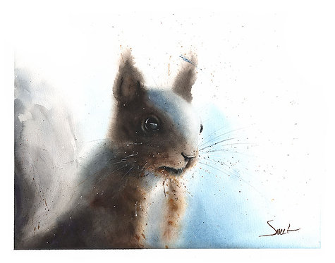Squirrel Watercolor Print