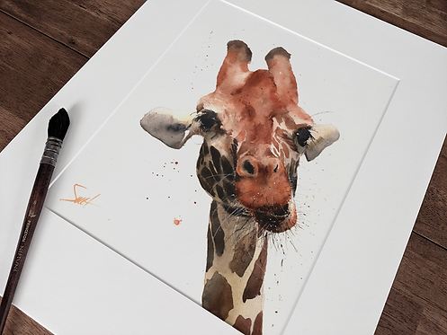Giraffe Original Watercolor Painting