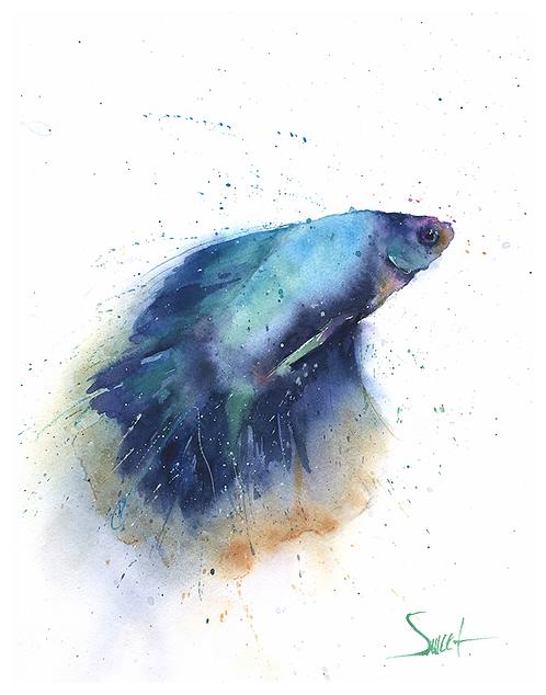Betta Fish Watercolor Print