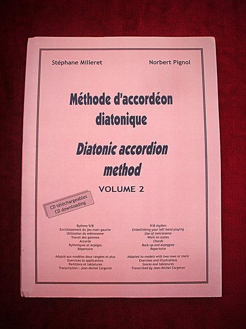 Méthode d'accordéon diatonique - volume 2