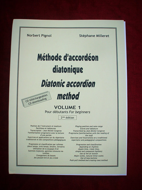 Méthode d'accordéon diatonique - volume 1