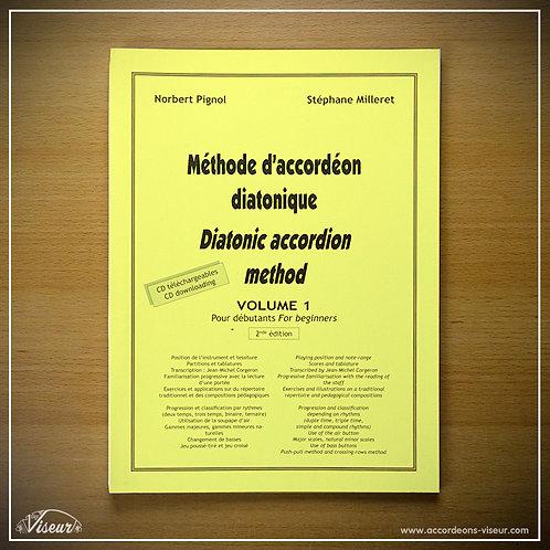 Methodeboek diatonische accordeon - volume 1