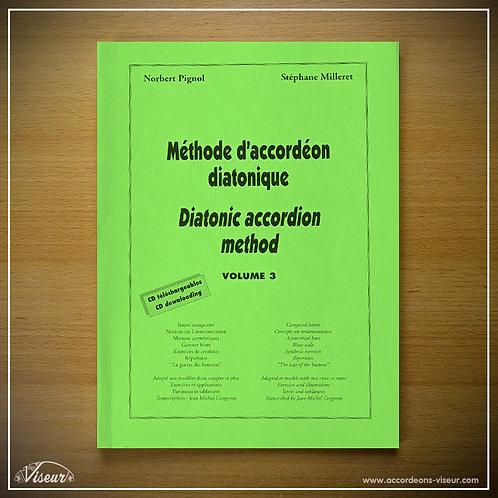 Methodeboek diatonische accordeon - volume 3
