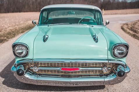 Vintage Blue Coupe 1957 Chevrolet Bel Air - Classic Car