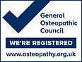 Pinnacle Posture therapists are registered with the General Osteopathic Council