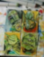 Star-Wars-Sketch-Cards-Topps-Yoda-Boba-F