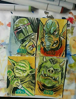 Star-Wars-Sketch-Cards-Topps-Yoda-Boba-F