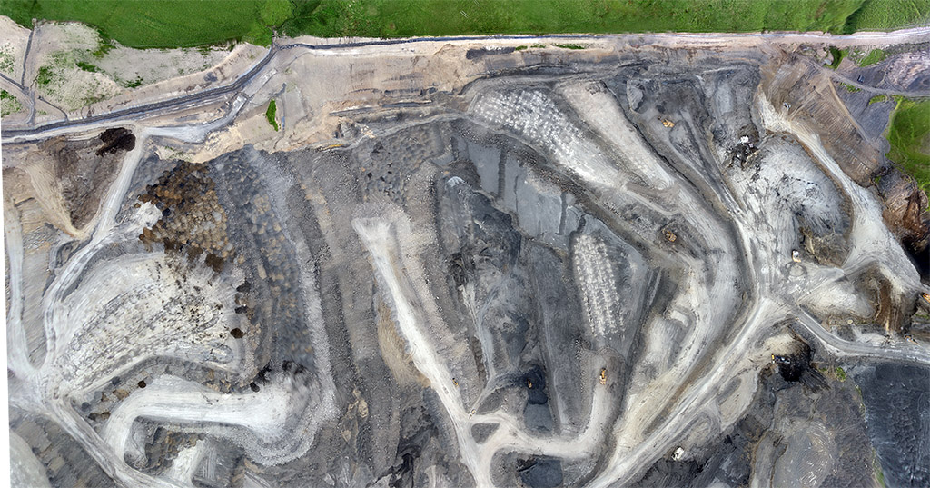 Survey of an open cast mine