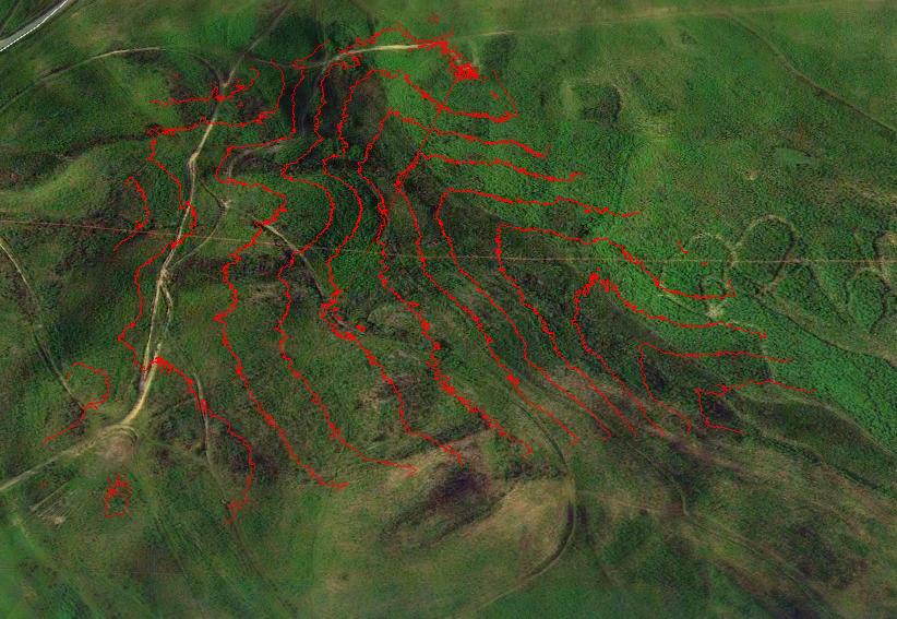 Geo referenced elevation survey