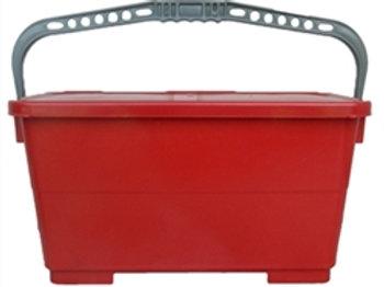 Microfiber recharging bucket--RED