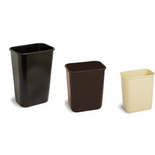 Plastic Wastebasket -28 1/8 Qt, Black