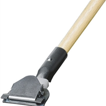 """60"""" Clip on wood dust mop handle"""