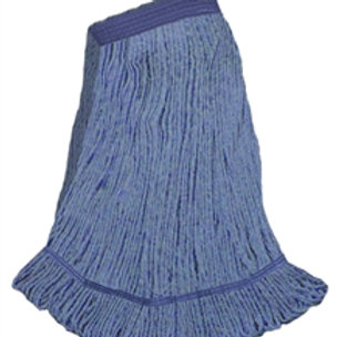 """Extra large blue blend looped end wet mop 1 1/4"""" band"""