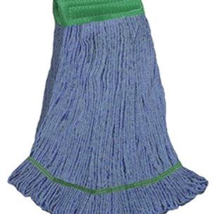 """Medium green blend looped end wet mop 5"""" band"""