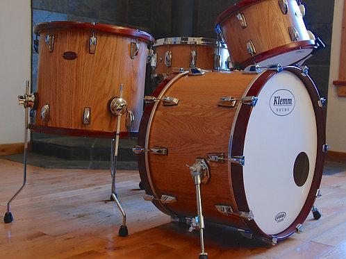Four Piece Red Oak Drum Kit