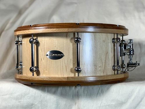 Maple Snare Drum with Jatoba/oak Rims