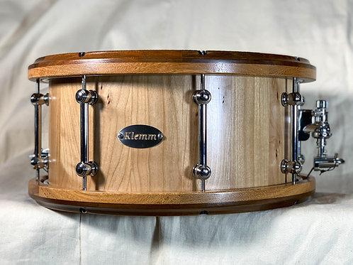 Cherry Snare Drum with Brazilian Walnut/Latti rims