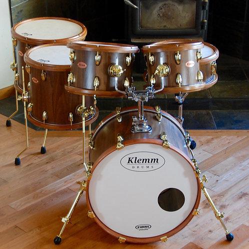 Six Piece Walnut Drum Kit with Jatoba Rims