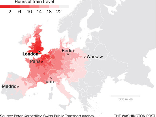 The remarkable distances you can travel on a European train in 1 day