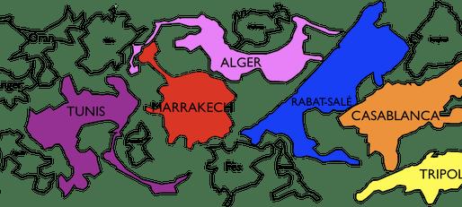 Superficie comparée des agglomérations maghrébines