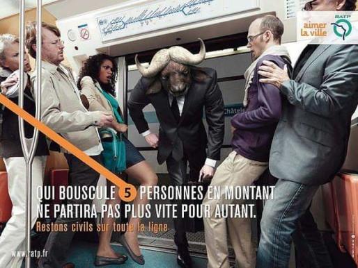 Campagne RATP «Restons civils sur toute la ligne»