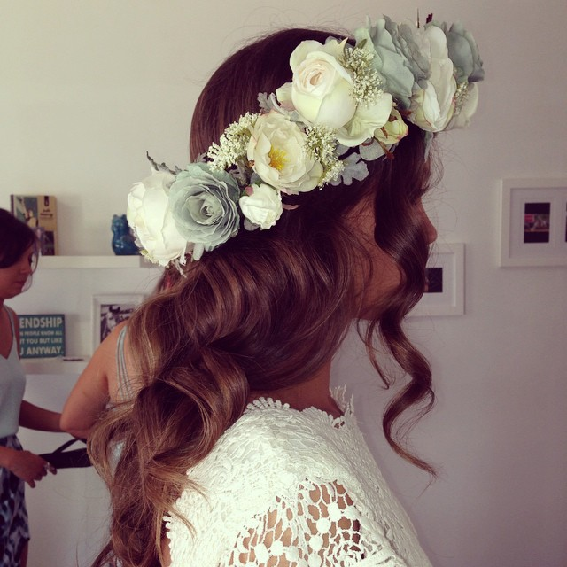 Beautiful bride Alli's hair on the weekend. I was lucky enough to get to attend this awesome wedding