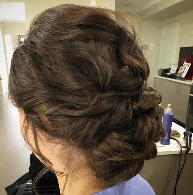 Fridays hair creation #hairup #wedding #lowbun #hair
