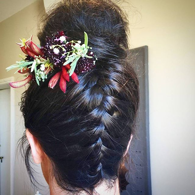 Laura's wedding  hair yesterday