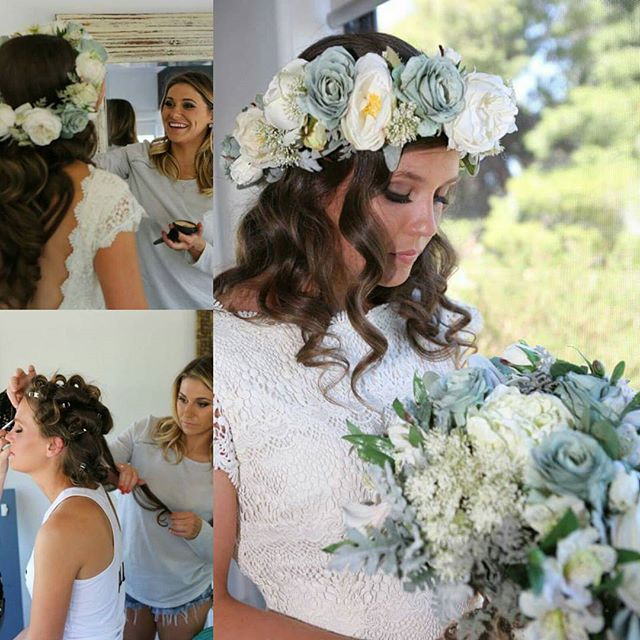 《Alli》_One of my gorgeous brides 👰 #wedding #weddinghair #hair #farmwedding #rusticwedding #flowers