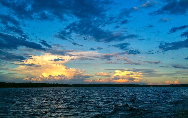 Lake Palestine Sunset Clouds Frankston T