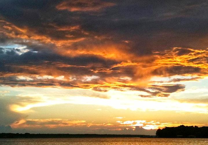 Lake Palestine Sunset Clouds1 Frankston