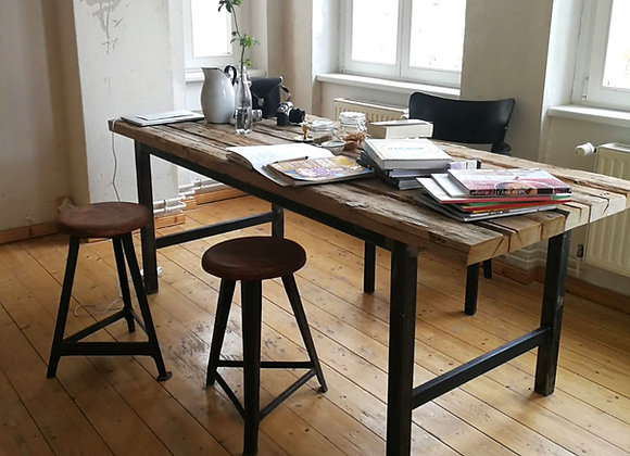 OSWALD DINING TABLE  (upcycled)