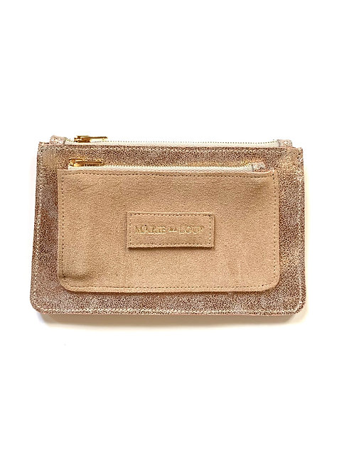 Porte-feuille Louloup - Champagne & Beige