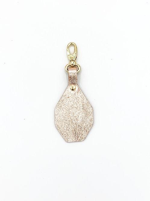 Porte-clés à personnaliser - Irisé gold & Orangé