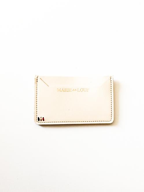 Porte-cartes crème
