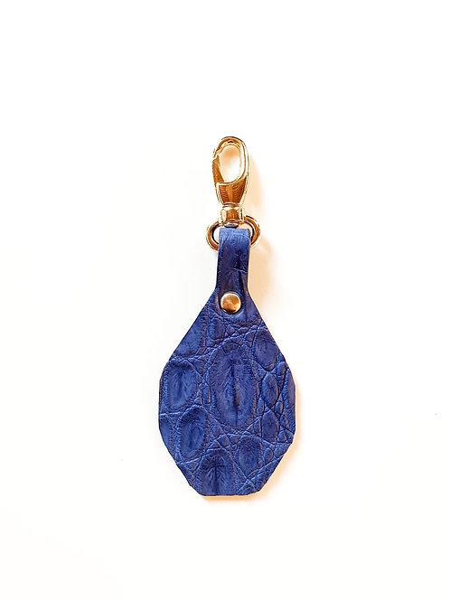 Porte-clés à personnaliser - Croco Bleu électrique