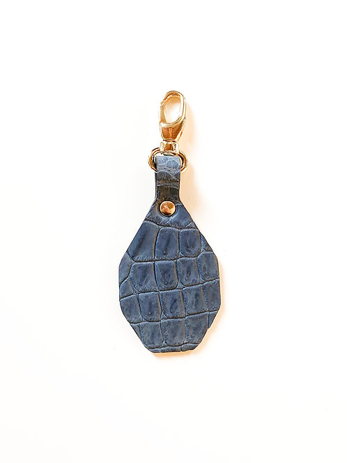 Porte-clés à personnaliser - Croco Bleu mat