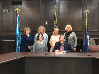 Judge Robertson signs proclamation declaring this week American Education Week in Russell County.