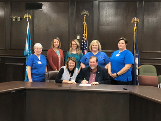 Judge Robertson signs proclamation declaring Nov. 2017 National Home Care Month in Russell County.