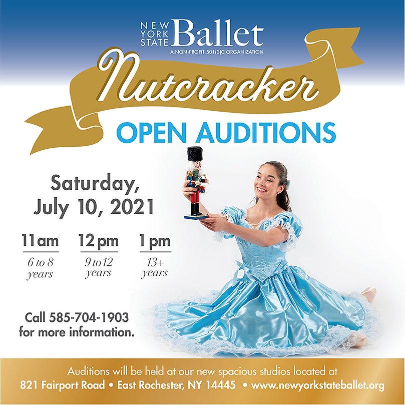 Nutcracker Auditions 2021 6x6 Window Gra