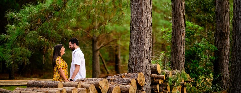 Bosque con novios